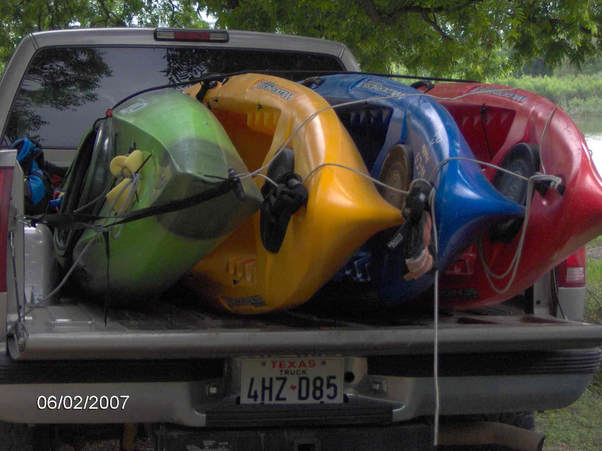 ideas for transporting 4 kayaks and gear